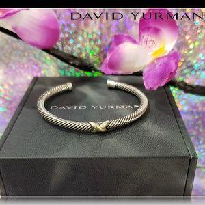 🌺 David Yurman Gold X Cuff Bracelet 🌺